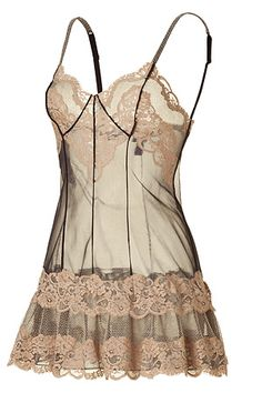 LOVE La Perla!        Black and Nude Chiffon Baby Doll by LA PERLA BY J.P.GAULTIER