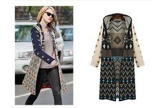 2015 New Fashion Winter Long Sleeve Open Stitch Hooded Striped Knitted Long Cardigan Women Sweater Plus Size Cardigans Feminino