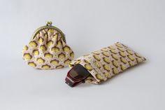 Cadeau Fête des mères: Ensemble étui à lunettes et porte monnaie rétro rose poudré : Porte-monnaie, portefeuilles par etoffe-et-bijoux