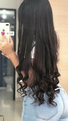 Long Black Hair, Very Long Hair, Braided Hairstyles, Cool Hairstyles, Mode Poster, Elegantes Outfit, Aesthetic Hair, Silky Hair, Beautiful Long Hair
