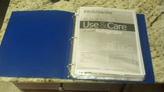 I put user manuals for household items & appliances in clear plastic sleeve pages clipped in a binder. They're all in one place now. Important Documents, Household Items, All In One, Binder, Manual, Appliances, Organization, Plastic, Sleeve