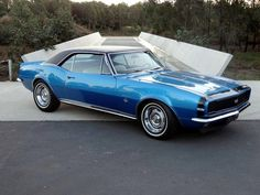 Marina Blue… 1967 Camaro RS/SS Our first new car after getting married. I ran the passenger door into a sign when it was three days old.