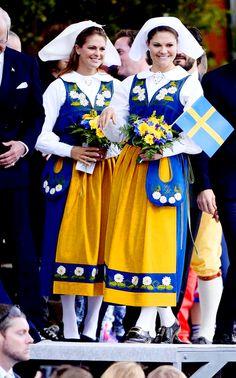 Royal Sisters...June 6, 2014...Swedish Sisters-Princess Madeleine and Crown Princess Victoria