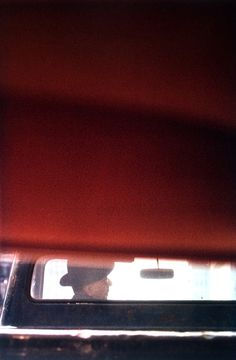 Saul Leiter, Man in Car, 1950's
