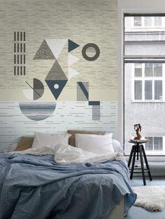 Sunset / non-woven wallpaper / lavmi Contemporary Interior Design, Contemporary Furniture, Vintage Chairs, Custom Wallpaper, Vintage Design, Industrial Chic, Small Rooms, Interior Accessories, Chair Design