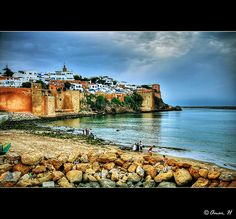 Rabat - Kasbah des Oudaïas - Large View :: HDR Really is a beautiful place. Loved eating & enjoying this view.