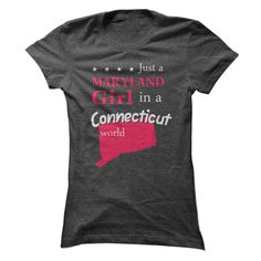 Pride of Maryland Ladies live in Connecticut t-shirt