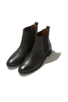 e8dc7f8465e Boots en cuir noir femme Josepha