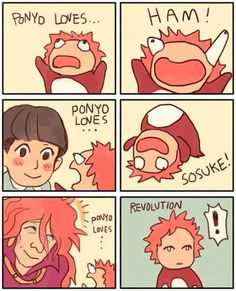 I love ponyo so much