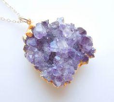 Amethyst Necklace : Cluster Druzy Jewelry  www.etsy.com/shop/443Jewelry