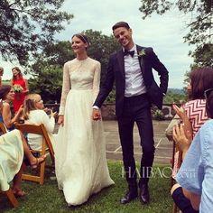 Sara Blomqvist + Jeremy Young at Glynwood Farm in Cold Spring, New York #bridal #weddings