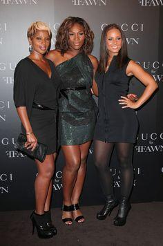 Mary J. Blige, Serena Williams & Alicia Keys
