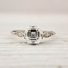 1.01 Carat Asscher Cut Ring by Tiffany and Co. Circa 1025. $12,000
