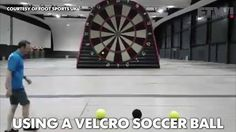 Foot Darts: when soccer meets darts.