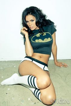 Two of our favorite things: Hot #Chicks and #Batman.