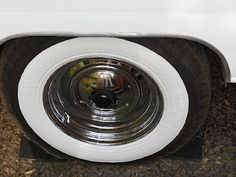 DIY painted white wall trailer tires ~ for her next set...
