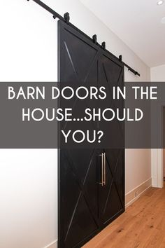 You need to determine if the area you want the barn door fits the criteria, is there a blank wall with no outlets or switches? If so, you now need to choose the door, do you want; a moulded panel door, stile and rail or traditional K frame or Z frame door? Do you want glass inserts? These are all things you should consider before purchasing a barn door. Blank Walls, Panel Doors, Contemporary, Modern, Are You The One, Outlets, Barn Doors, House, Traditional