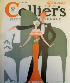Vintage Colliers Magazine Cover, colliers magazine, collier's magazine, christmas, christmas cover march 1934, christmas illustration, christmas signing, vintage magazine cover,
