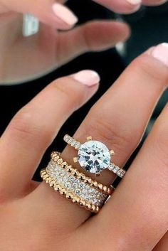 engagement ring trends unique diamond pave band set bridal #weddingring #Diamondsjewellery