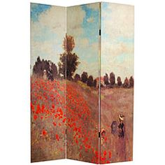 These double-sided Monet room dividers feature paintings from the ...