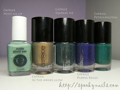 Catrice Mint Me Up, In The Armee Glow, Squeeze Me, Purple Reign, Petrolpolitan