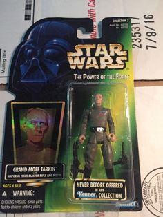 Grand Moff Tarkin Star Wars POTF Foil Green Card w Imperial Issue Blaster   eBay