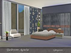 The Sims Resource: Bedroom Acacia by ung999 • Sims 4 Downloads