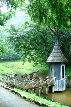 Such a great place to read fairy tales...moomin valley #16 by yui.kubo on Flickr.