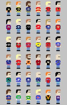 8 Bit NHL Jerseys... Not the biggest hockey fan but I thought this f6c1dfd85