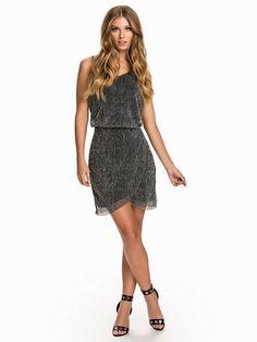 Vijanari Detail Dress - Vila - Ljus Grå - Festklänningar - Kläder - Kvinna - Nelly.com