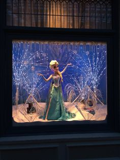 Pin for Later: 23 Things You Need to Know Before You Visit Tokyo Disney  A Frozen window display this past Winter.
