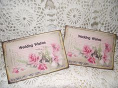 Wedding Wish Cards Bridal Wish Cards Shabby Chic Style  by mslizz, $23.00