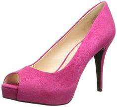 Nine West Women's Camya Suede Platform Pump, Pink, 7.5 M US