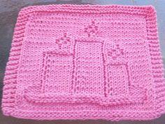 Candles Knit Dishcloth  pattern by Lisa Millan