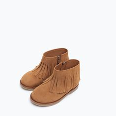 FRINGED LEATHER ANKLE BOOTS-Shoes-Baby girl | 3 months - 3 years-COLLECTION SS16 | ZARA Canada
