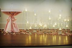 Candlescape adds so much #romance! #MichaelAngelos Events Blog
