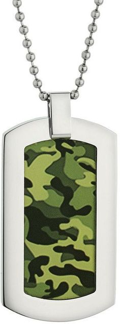 Kohl's Lynx Stainless Steel Camouflage Dog Tag Necklace - Men