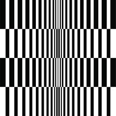 Abstract op art gradient monochrome background. Vector.