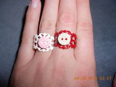 Cute Adjustable Button Ring by taizee on Etsy, $5.50