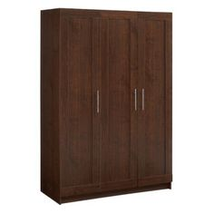 akadaHOME Tall 3 Door Framed Wardrobe Cabinet by akadaHome. $459.99. Engineered wood with walnut laminate finish. Adjustable hinges. Metal handles and adjustable hinges. 4 adjustable and 2 fixed shelves. Dimensions: 48.25L x 20.5W x 71.625H inches. Offer stylish functionality to your home or office with the akadaHOME Tall 3 Door Framed Wardrobe Cabinet. It features 3 doors that open to reveal spacious storage options with 4 adjustable shelves and 2 fixed shelves. Made of...