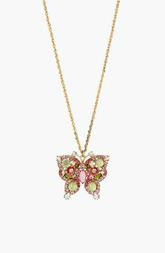 Betsey Johnson 'Spring Glam' Butterfly Pendant Necklace available at #Nordstrom