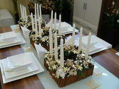 Christmas dinner table #centerpiece
