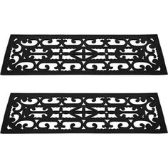 Extra Wide 48 Quot Rubber Scroll Stair Treads Set Of 3 Outdoor