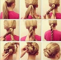 Cute, easy updo
