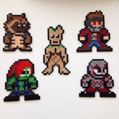 Guardians of the Galaxy perler set by lilruin