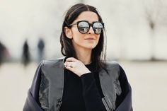 ezgi kiramer (blogger) -- LOVE the glasses and the Marni for H jacket