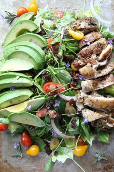 Rosemary Chicken, Avocado and Bacon Salad