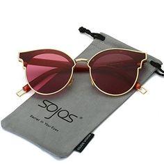 1841250c25 SojoS Fashion Designer Cateye Women Sunglasses Oversized Shades Flat Lens  SJ1055 With Gold Frame Clear