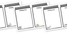 Twinkl Resources >> Travel Agents Holiday Lists >> Thousands of printable primary teaching resources for EYFS, KS1, KS2 and beyond! travel agent, holiday, travel, role play, display poster, poster, sign, holidays, agent, booking, plane, flight, hotel, holiday list,