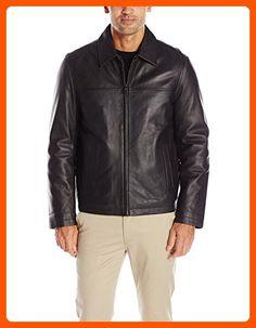 Tommy Hilfiger Men's Smooth Lamb Leather Laydown Collar Open Bottom Jacket, Black, XXL - Mens world (*Amazon Partner-Link)